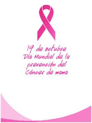 HOY, 19 DE OCTUBRE, ES EL DIA INTERNACIONAL CONTRA EL CANCER DE MAMA